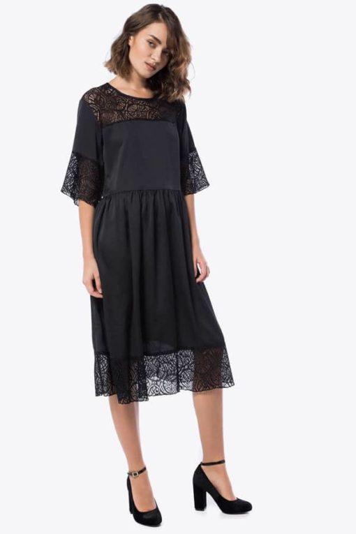 Φόρεμα Midi με δαντέλα 002073a (3)