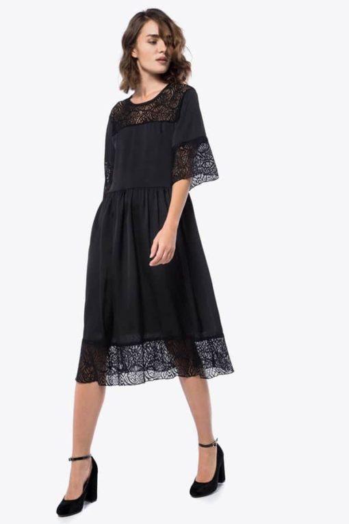 Φόρεμα Midi με δαντέλα 002073a