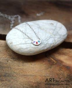 Μενταγιόν ασήμι με σμάλτο από τη συλλογή Aurora Palette 002083