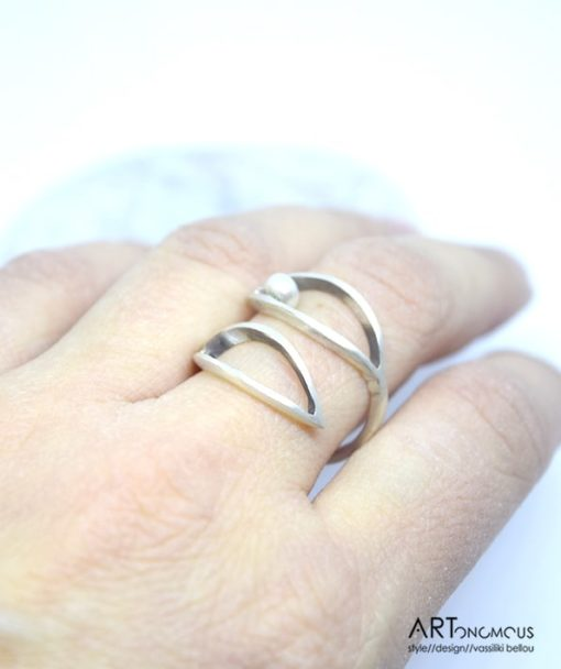 Ασημένιο δαχτυλίδι με μαργαριτάρι 002183 (3)