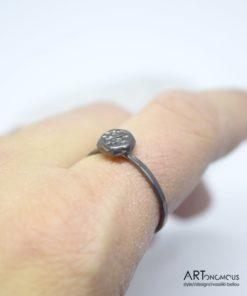 Ασημένιο δαχτυλίδι με μαύρη οξείδωση 002146 (3)
