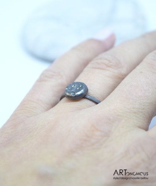 Ασημένιο δαχτυλίδι με μαύρη οξείδωση 002149 (3)