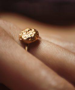 Gold Plated Silver Ring Artonomous 1