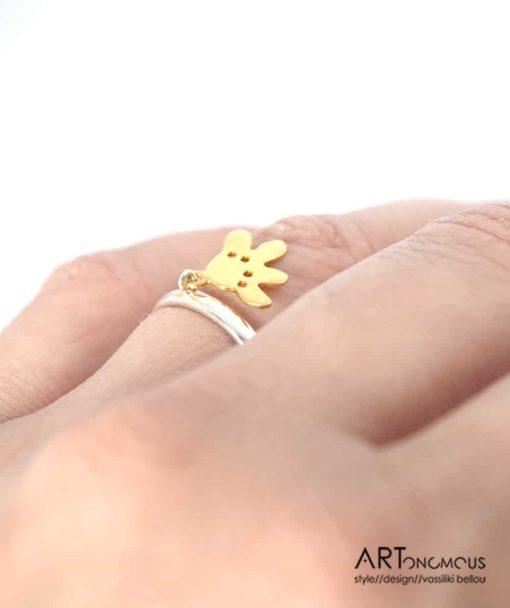 Ασημένιο δαχτυλίδι λουλουδάκι 002197 (3)