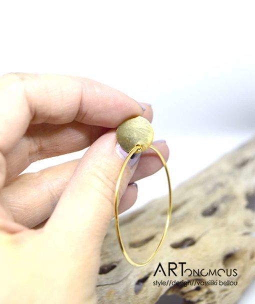 Ασημένια επίχρυσα σκουλαρίκια κρίκος 002235a (3)