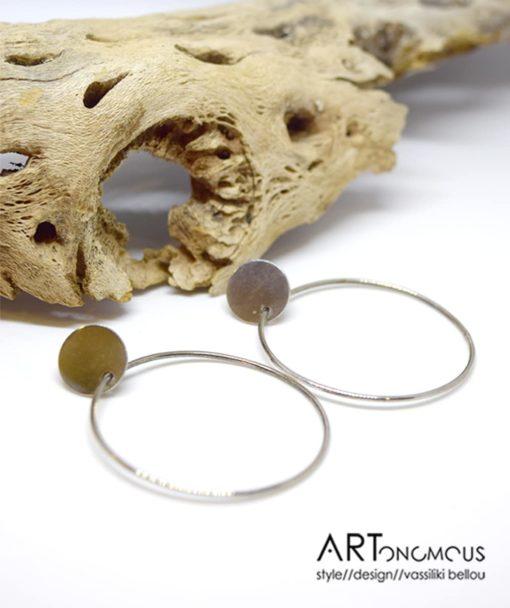 Ασημένια σκουλαρίκια κρίκος 002234a (3)