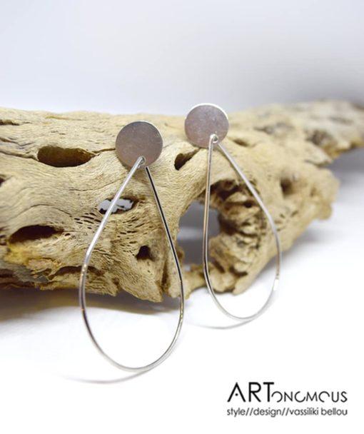 Ασημένια σκουλαρίκια σταγόνα 002232a