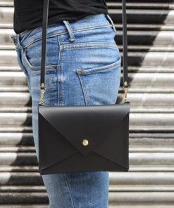Δερμάτινη τσάντα φάκελος Μαύρο 002256a (2)