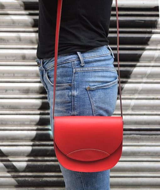Δερμάτινο τσαντάκι – κόκκινο 002259a (2)