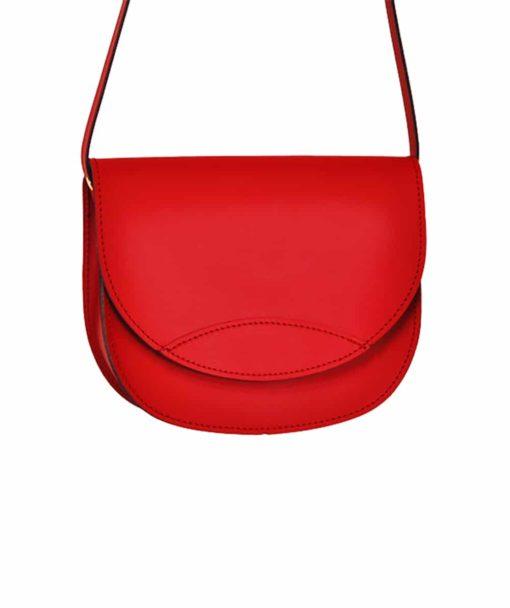 Δερμάτινο τσαντάκι – κόκκινο 002259a