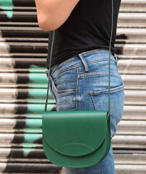 Δερμάτινο τσαντάκι – πράσινο 002260a (2)