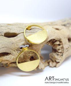 Επίχρυσα σκουλαρίκια κυκλάκια 002225a (2)