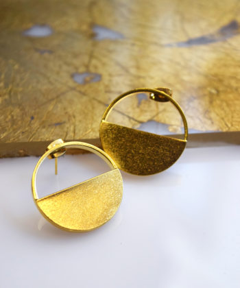 Gold Plated Bras Earrings Artonomous 1