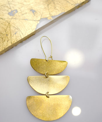 Gold Plated Bras Earrings Artonomous 3