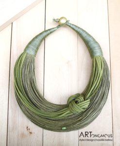Κολιέ με νήμα πράσινο 002251a