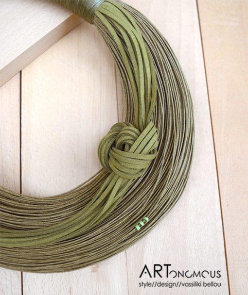 Κολιέ με νήμα πράσινο 002251a (3)
