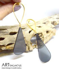 Σκουλαρίκια επίχρυσα με Plexiglas 002246a (3)