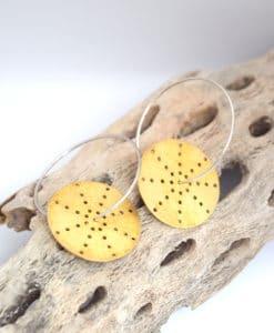 Σκουλαρίκια χρυσό κρίκοι δίσκοι Artworks Artonomous 1