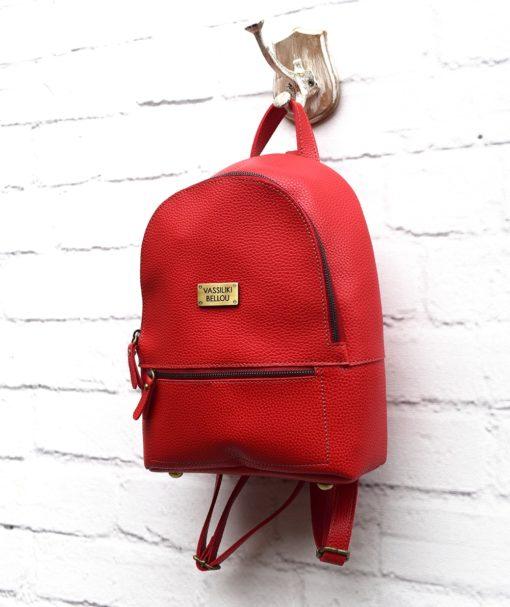 Τσάντα Πλάτης Κόκκινο 002295a (3)