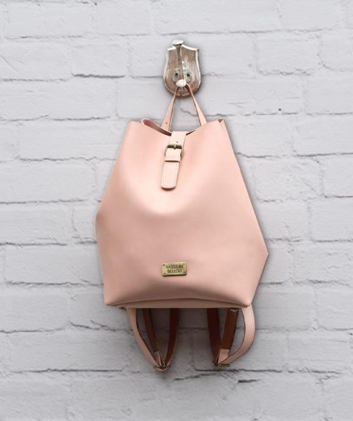 Τσάντα Πλάτης Ροζ 002302a (2)