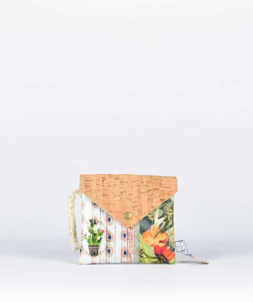 Πορτοφόλι με τύπωμα & φελλό 002353a Wm 05
