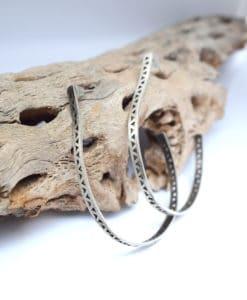 Ασημένια σκουλαρίκια με γεωμετρικά σχέδια 002432a