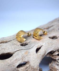 Επίχρυσα σκουλαρίκια κρικάκια 002405a