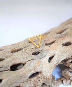 Επίχρυσο δαχτυλίδι Τρίγωνο 002400a