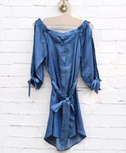 Φόρεμα μίνι τζιν 002451c (2)
