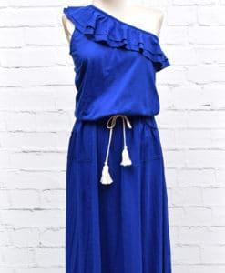 Φόρεμα μπλε με έναν ώμο 002457b (2)