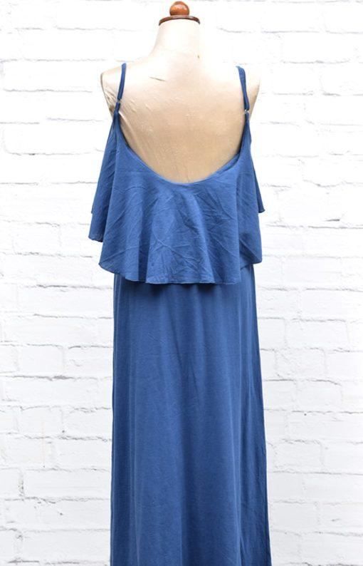 Φόρεμα μπλε με βολάν 002456b (1)