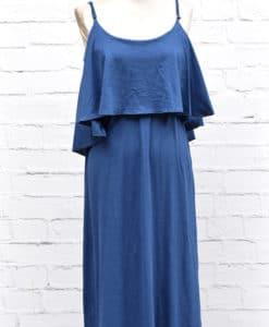 Φόρεμα μπλε με βολάν 002456b (2)