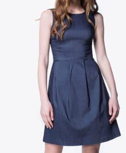 Φόρεμα τζιν πουά 002438a