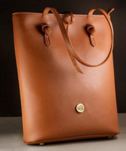 Handbag Tobacco Brown Vasiliki Bellou Artonomous 1