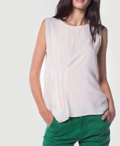 Μπλούζα αμάνικη με πιέτες 002461a