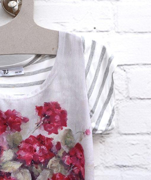 Μπλούζα εμπριμέ με λουλούδια 002393a (2)