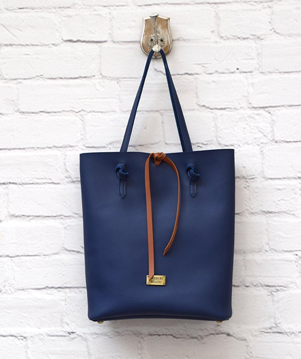 Τσάντα shopper - Μπλε Vasiliki Bellou - ARTonomous    Style    Design 1bcd7d0b835