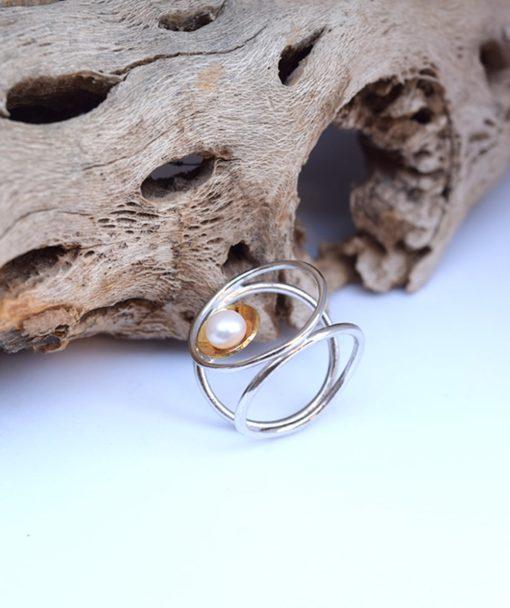 Δαχτυλίδι ασήμι με μαργαριτάρι 002501a (2)