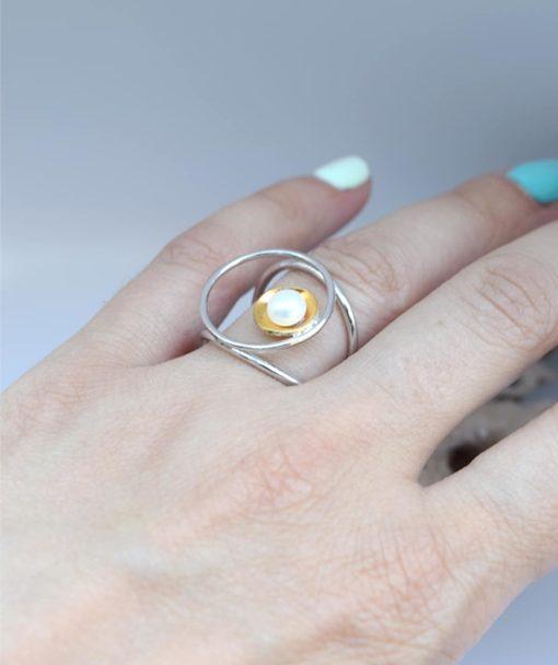 Δαχτυλίδι ασήμι με μαργαριτάρι 002501a (3)