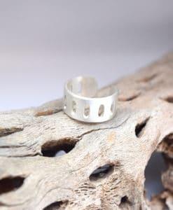 Δαχτυλίδι γεωμετρικό στυλ επάργυρο 002493a