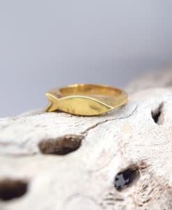 Δαχτυλίδι ψαράκι ασημί επιχρυσωμένο 002486a