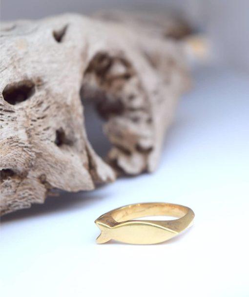 Δαχτυλίδι ψαράκι ασημί επιχρυσωμένο 002486a (3)
