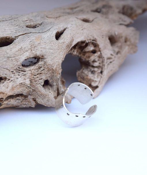 Δαχτυλίδι σε γεωμετρικό στυλ ασήμι 002487a (2)