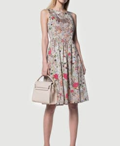 Φόρεμα εμπριμέ με ανοιχτή πλάτη 002514a (2)