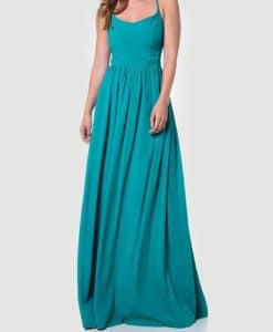 Φόρεμα μακρύ με χιαστί πλάτη 002508a (1)