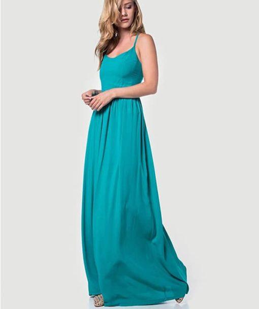 Φόρεμα μακρύ με χιαστί πλάτη 002508a (2)