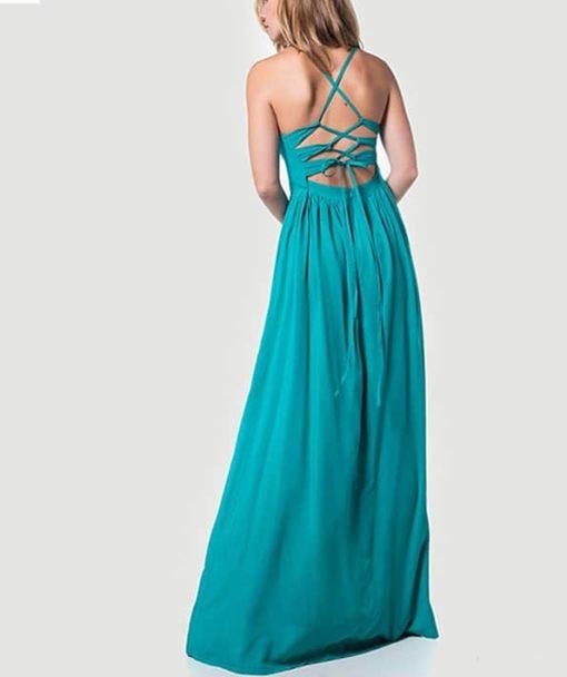 Φόρεμα μακρύ με χιαστί πλάτη 002508a (3)
