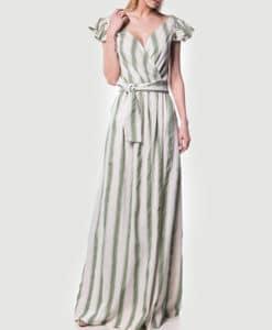 Φόρεμα μακρύ ριγέ κρουαζέ 002509a (2)