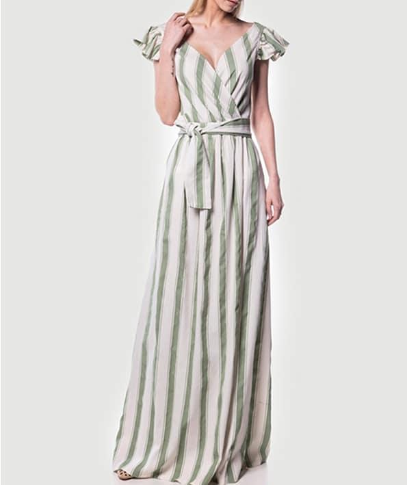 c7028a13c01 Φόρεμα μακρύ ριγέ κρουαζέ - ARTonomous // Style // Design