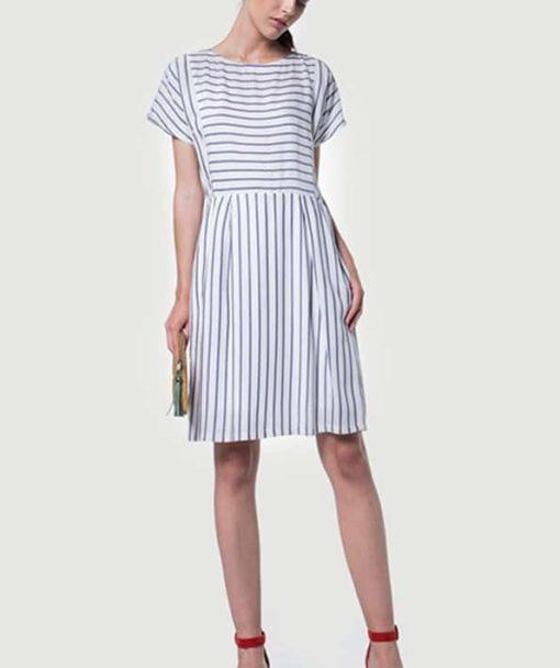 Φόρεμα ριγέ κοντό 002510a (1)